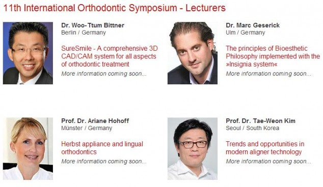 11th International Orthodontic Symposium - Lecturers